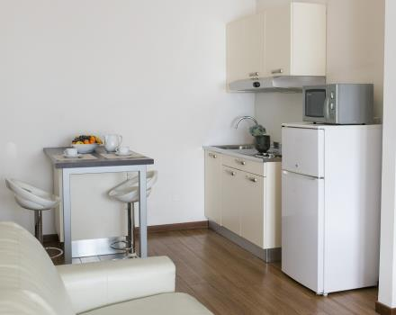 Residence-Hotel Biri 2 bedroom flat kitchen