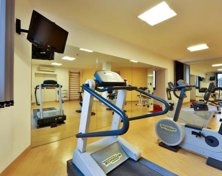 Stay in shape with us and take advantage of the Hotel's free fitness center Biri in Padua Centre!