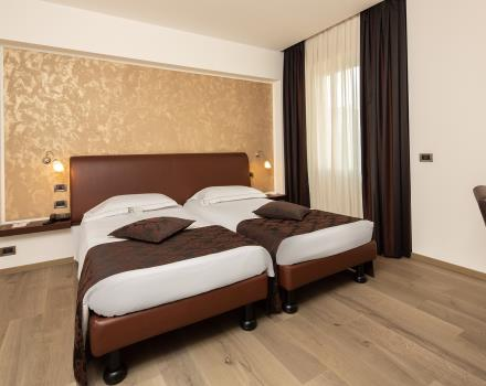 Choose the ultimate comfort: book the Double Rooms of Hotel Biri, modern and cozy 4 stars in Padua!