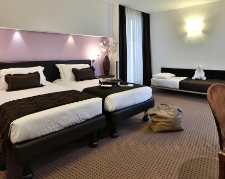 The Family rooms of the Best Western Hotel Biri, 4-star hotel centrally located in Padua, are perfect for those travelling in groups and looking for the utmost comfort.